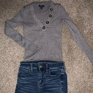 Forever 21 half button sweater